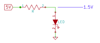 LED with Current Limiting Resistor